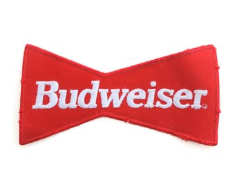 "Big Vintage Budweiser Beer Bud King Of Beers Embroidered Delivery Uniform Back Patch 4"" x 7.5"""