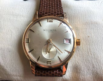 elegant Vintage WillCar Watch 1960s 17 rubis