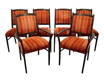 Mid-Century Dining Chairs Danish Modern Rosewood Chairs-Set of 6