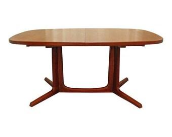 Mid Century Dining Table Danish Modern Gudme Mobelfabrik Teak Extension  Surfboard Dining Table