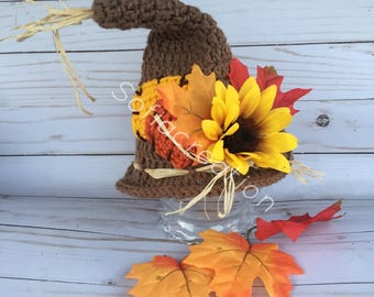 Scarecrow hat -Baby scarecrow costume -scarecrow prop-fall hat-halloween costume-baby halloween hat-toddler scarecrow