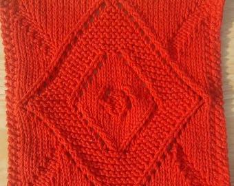 diamond face/dish cloth, red and green diamonds (comes as a set)