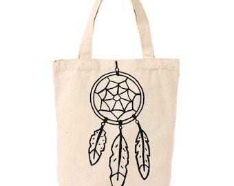 Dream catcher market tote, canvas bag, reusable tote