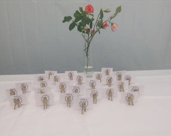 Horse Magnet place card holder and wedding favour bag included with each animal X 50