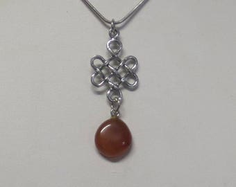 Celtic necklace with gemstone charm CCS175