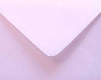 10 BABY PINK metallic envelopes C6  for cards and invitations / light pink envelope for wedding invitations / baby shower