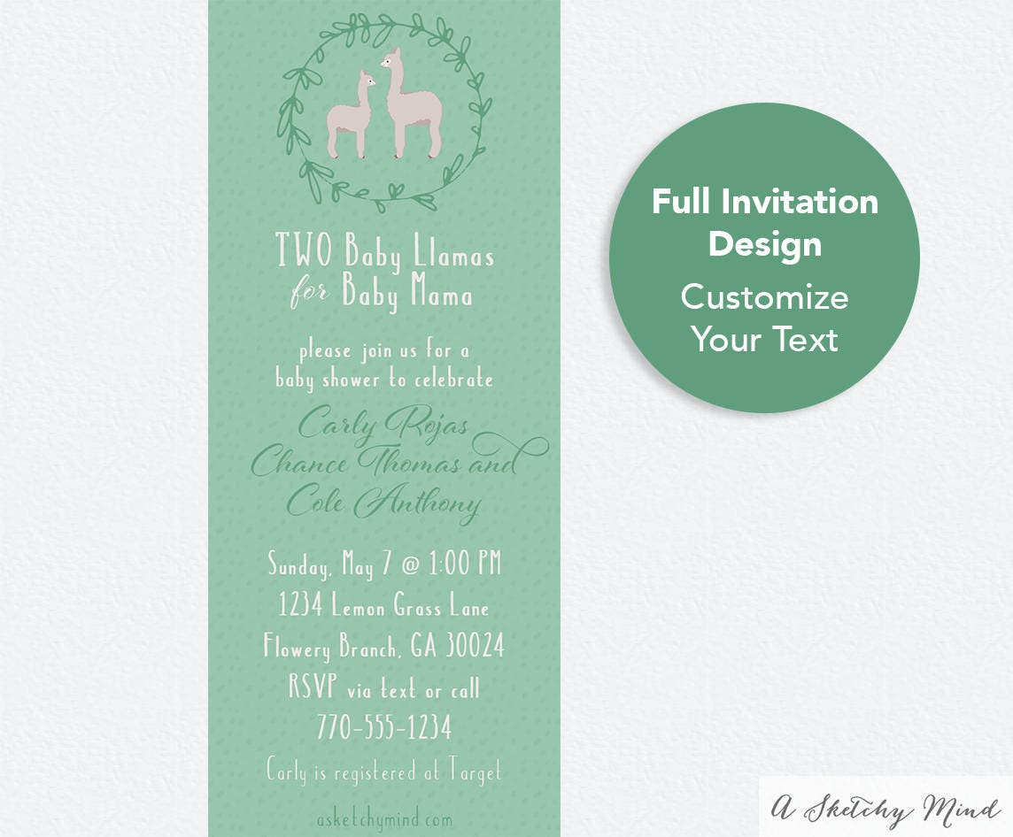Text message invitation baby llama baby shower invitation text message invitation baby llama baby shower invitation digital invite email invitation filmwisefo Choice Image