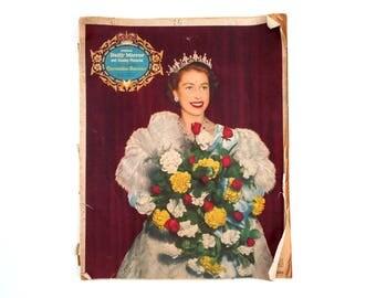 Queen Elizabeth Coronation Newspaper, Daily Mirror Overseas Royal Souvenir from June 1953, Old British Paper Ephemera, 1950s Britain