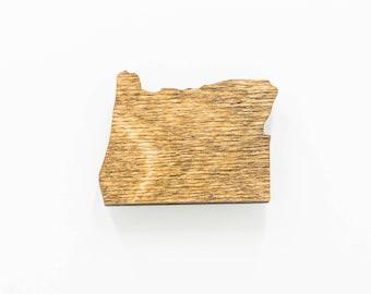 Oregon Wooden Magnet - OR State Magnet - Wooden Oregon Carved Magnet - Wooden OR Charm - Oregon State Magnet
