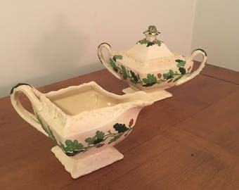 Vintage Mason's Oak Cream and Sugar Set