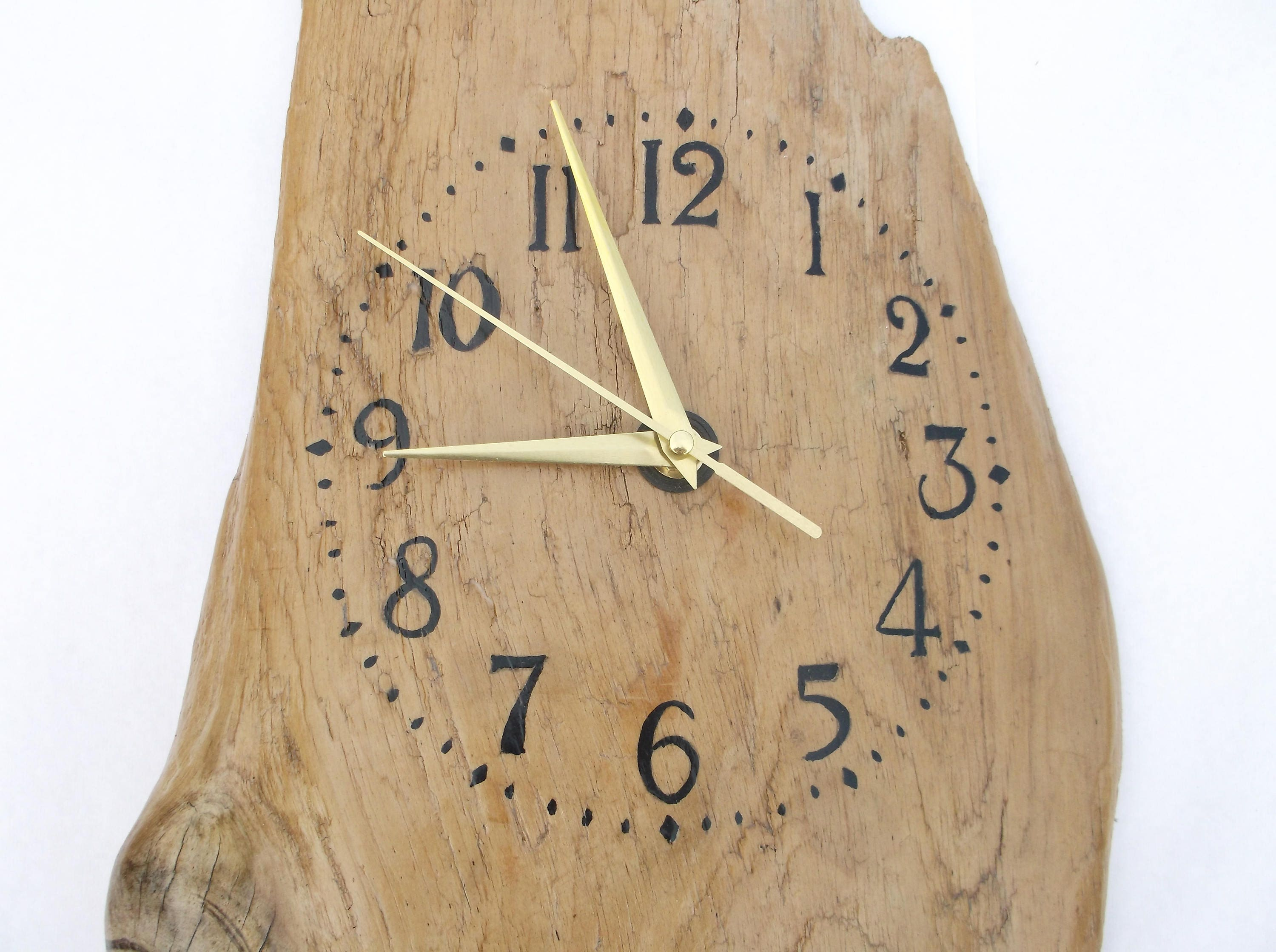 Driftwood clock large thick solid driftwood clock hanging wall driftwood clock large thick solid driftwood clock hanging wall art hand crafted amipublicfo Image collections