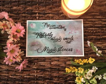 Magic - Watercolor Painting and Poem