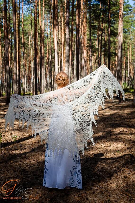 Lace shawl, Big hand knitted shawl, Wedding shawl, Beaded mohair shawl, Lace bridal shawl, Knitted lace shawl, Silk shawl, Linen boho shawl