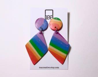 70s RAINBOW | Polymer Clay Earrings