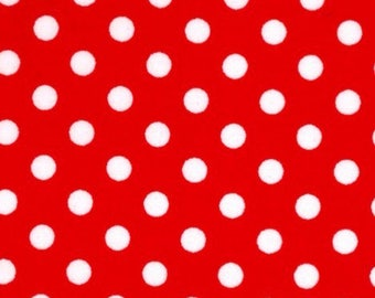 Red and white polka dotted, 18x18 set of (8), Christmas 2017