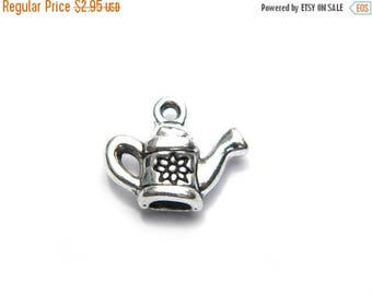 HALF PRICE 6 Silver Water Can Charms - Watering Can - Garden Charm