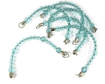 Bag handles 2 aqua blue turquoise beads