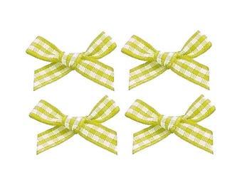 4 nodes 2 cm yellow gingham