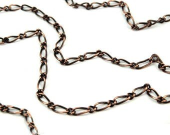 Copper long link metal chain 7 mm
