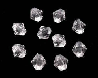10 g 6 mm faceted clear Crystal beads
