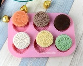 Moon cake mold Soap Mold 6-Round Happiness Flexible Silicone Molds Candle Candy Chocolate Cake Fimo Resin Crafts  DIY Mold in Handmade Epoxy
