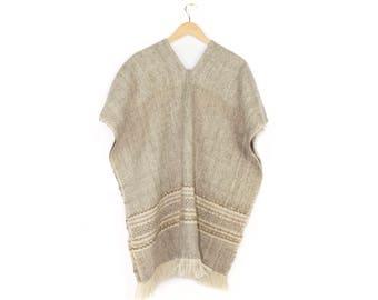 vintage woven wool pancho