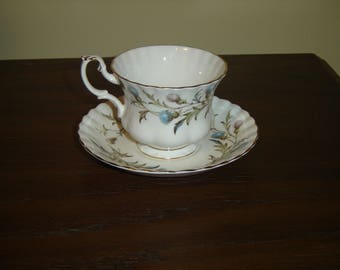 Royal Albert Brigadoon (1980) cup and saucer mint condition