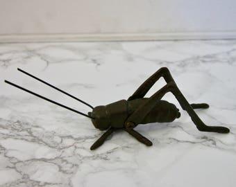 Brass Vintage Bug Grasshopper Insect