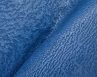 "Deep Sea Blue Divine Saffiano ""Uptown"" Leather Cow Hide 12"" x 12"" Pre-cut 3-3 1/2 oz DE-63907 (Sec. 6,Shelf 5,C)"