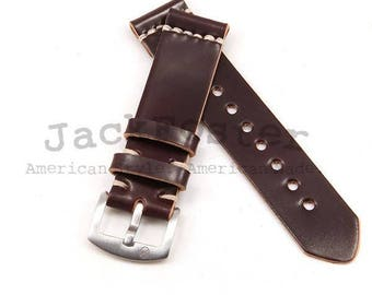 Standard Watch Strap with Color #8 Horween Shell Cordovan Leather