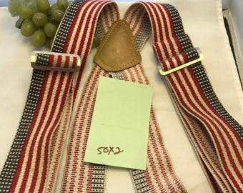 V356 Americana ,vintage suspenders, stretch, red white blue,