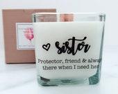 NEW Sister Soy Candle ~ Sister Wedding Gifts~Bridesmaid Proposal Box ~Sister Wedding ~Matron of Honor Gift~Bridesmaid Gift~Wedding Candle~