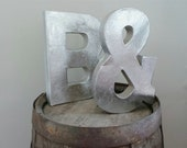 """8"""" ANTHONY Metallic Silver Paper Mache Letters"""
