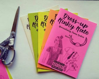 Zine, Doll, Dress up, Trans, Girl, Zine, Kinky Kate, Queer Zine, Dress - up Kinky Kate, Normalizing, Trans, Body, Bodies