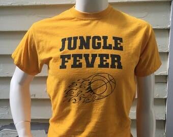 Jungle Fever Yellow Vintage Tee Shirt