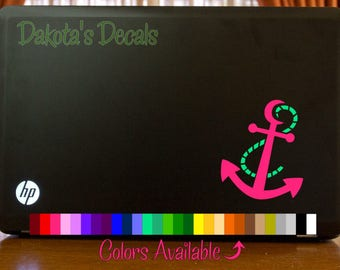 Pretty Anchor Laptop Decal