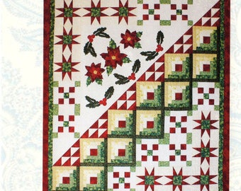 HOLIDAY BEAUTY    Pieced and Applique Christmas Pattern   - By: Bound To Be Quilting   BTBQ109