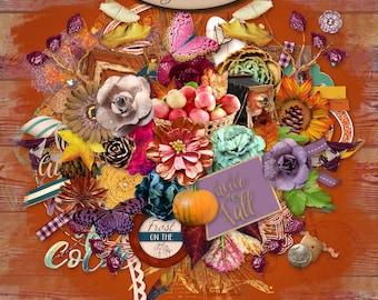 Digital Scrapbooking, Elements Pack, Fall: Autumn Joys