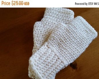 ON SALE Fingerless Gloves - Wrist Warmers, Handmade Crochet, Many Colors