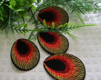 accessory customization iron patch peacock eye thermocollant iron patch