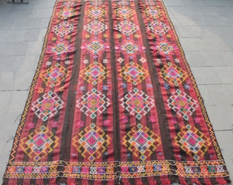 Turkish Kilim Rug 67''x129'' Area Rug Wool Vintage Oriental Nomad Cicim Carpet