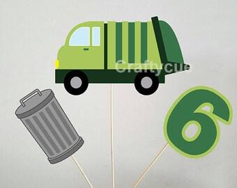 Garbage Truck Centerpieces