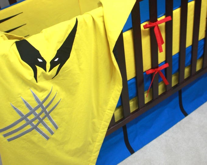 Superhero baby bedding--With Bumpers-MTO