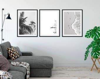 Home Among the Palm Trees Prints (SET OF 3)