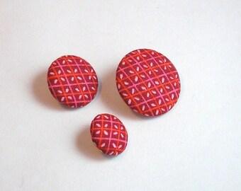 Button fabric diamond 28 mm