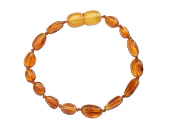 Genuine Baltic Amber Teething Bracelet (ATBP-Honey)