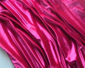 Stretch Velvet, 2 Yards, Fuchsia Color