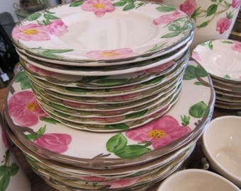 Franciscan Desert Rose Dishes Set of 58
