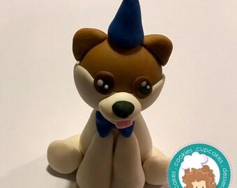 Boo the dog inspired fondant cake topper