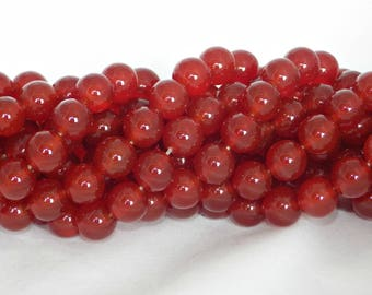 A Grade 10mm Natural Carnelian Beads on String